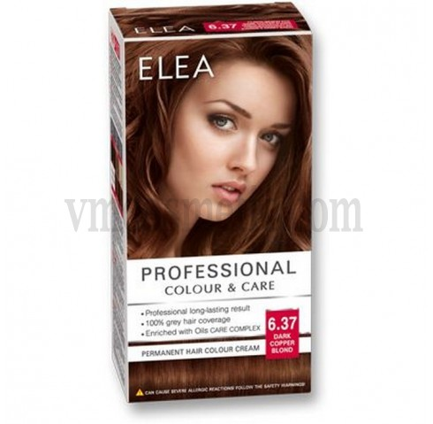 "ELEA Боя за коса ""Elea Professional Colour & Care"" - № 6/37 Тъмно медно рус"