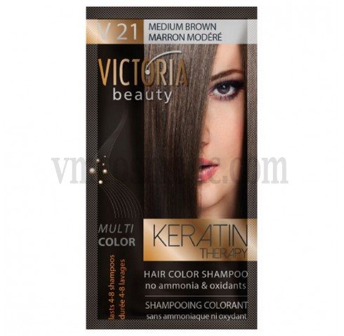 Victoria Beauty V 21 MEDIUM BROWN / MARRON MODÉRÉ / СРЕДНО КАФЯВ 40 гр